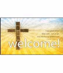 Pew Card-Welcome/Cross  (Psalm 122:1) (Pack Of 50) | SHOPtheWORD