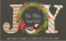 Pass-Around Card-Joy To The World/Wreath (Pack Of 25) | SHOPtheWORD